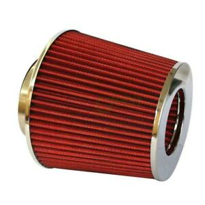 4 Inch Universal Cold Short Intake Round Cone Air Filter Red