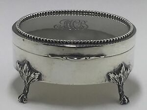 Antique Birks Sterling Silver Jewelry Box