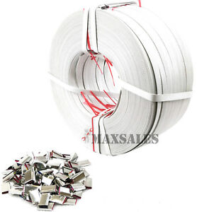 New Strapping Rolls Poly 1706 Ft 600pc Steel Seals