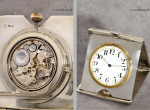 Miniatur Carriage Clock With Quater Repeating Siver Case With Niello Technology