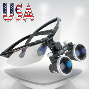 High end Luxury Dentist Dental Surgical Medical Binocular Loupes 2 5x 420mm Usa