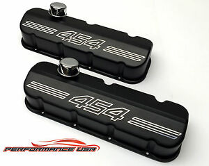Big Block Chevy 454 Outline Die Cast Aluminum Black Powder Coat Valve Covers