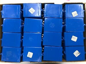 New Lot Of 64 Carlon B118a Blue Pvc Single Gang Nail On Electrical Switch Box