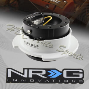 Nrg Black White Ball Lock 6 Hole Steering Wheel Gen 2 5 Quick Release Adapter