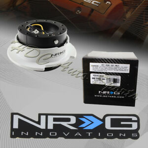 Black White 6 Hole Nrg Steering Wheel Gen 2 5 Quick Release Adapter Srk 250bk Wh