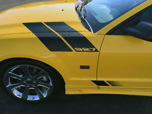 Hood Fender Hash Stripe Stripes Decals Graphics Fit 2005 09 Ford Mustang Saleen