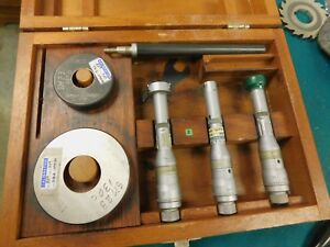 Brown Sharpe Hole mike Inside Micrometer Hole Bore Gage Gauge Set 0 6 1 2