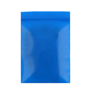 New Flat Blue Plastic Zip Lock Reclosable Bag Pouches Variety Quantities 5x7cm