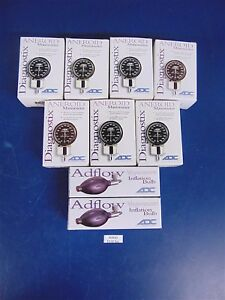 7 Adc Aneroid Manometer 802 And 2 Sphygmomanometer Inflation Bulbs 872 new s2910
