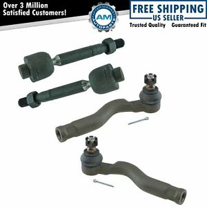 Inner Outer Tie Rod End Lh Driver Rh Passenger Set Of 4 For Tundra Sequoia New