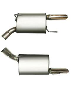 Pair Of Two Stainless Steel Mufflers Fits 2005 2010 Ford Mustang V8