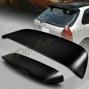 For Honda Civic 3dr Hatchback Carbon Fiber Spoon Rear Roof Window Spoiler Wing