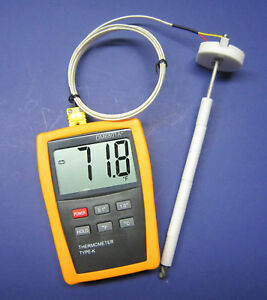Digital K type Thermometer With High Temperature Ceramic Probe Furnace Kiln Cr 7