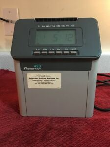 Acroprint 420 Time Recorder Clocking In Machine For Parts Or Repair