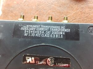 Instrument Transformers Inc Auxiliary Current Transformer 1j 1700 z10