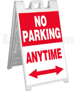 No Parking Anytime Signicade A frame Sign Sidewalk Pavement Event Board Rb