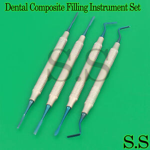 Dental Anterior Periotomes Set Implant Composite Titanium Coated Serrated Tips