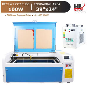 Reci 100w C02 Laser Cutter Engrave Machine With Cw 5000 Chiller linear Guides