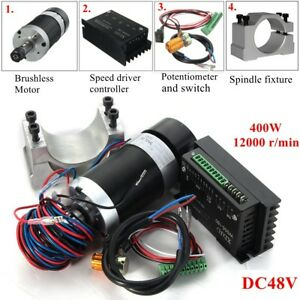 400w Er11 Cnc Spindle Motor Brushless speed Driver Controller Kit For Engraving