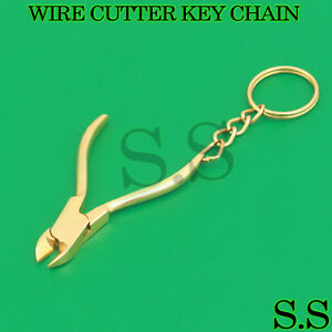 Wire Cutter Key Chain Full Gold Surgical Dental Instruments