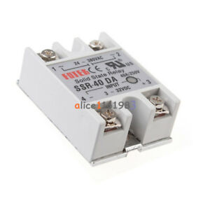 1 2 4 5 10pcs 24v 380v Ssr 40da 40a 3 32v Dc ac Solid State Relay For Arduino