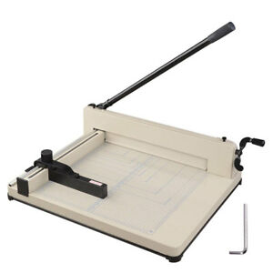 17 quot Heavy Duty Manual Guillotine Paper Cutter Trimmer 26531