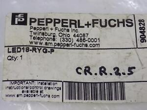 Pepperl fuchs Panel Mount Indicator Led18 ryg p Nib