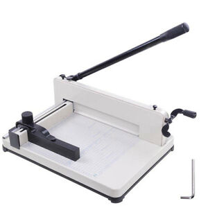 12 quot Heavy Duty Manual Guillotine Paper Cutter Trimmer 26396