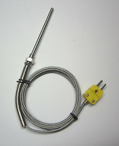 Grounded K type Thermocouple Sensor W High Temperature Stainless Steel Probe Ss