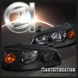 Fit 2004 2006 Hyundai Elantra Black Clear Headlights Amber Reflector Left Right