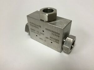 New Autoclave Engineers Ctx9990 Pressure Tee Fitting Connections 9 16 Tubing