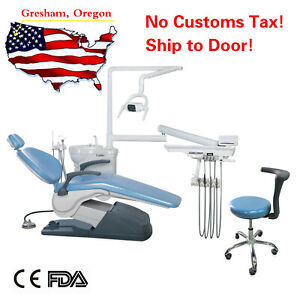 Tj2688 A1 Computer Controlled Dental Unit Chair Hard Leather With Stool Fda Ce