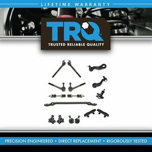 Trq 16 Pc Steering Suspension Kit Ball Joints Tie Rods Pitman Idler Arms New