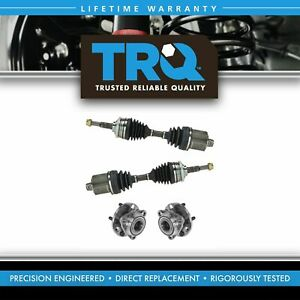 Trq 4 Piece Steering Kit Front Cv Axle Assemblies W Wheel Hub Bearings New