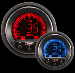 Prosport 52mm Evo Electrical Boost Controller Gauge Red blue