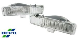 82 94 Jimmy Blazer Sonoma S10 S15 Clear Turn Signal Parking Bumper Light Pair