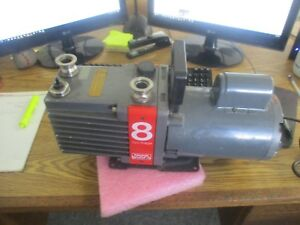 Edwards E2m8 High Vacuum Pump Model 8 Two Stage With Franklin Motor
