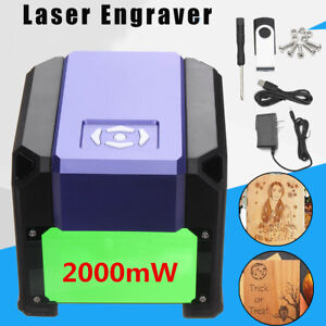 2000mw Usb Mini Laser Engraver Printer Cutter Carver Diy Mark Engraving Machine