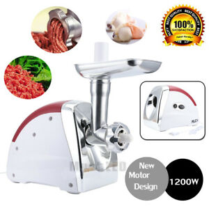 1200 Watt 110v Industrial Electric Meat Grinder Meats Grind Cutter Home Use Usa