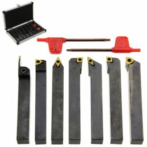 Carbide Indexable Turning Tool 1 2 7 Pc Lathe Tool Bit Set Thread Insert holder
