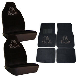 Ca California Trucker Girls Crystal Rhinestone Floor Mats Seat Covers Combo 6pc