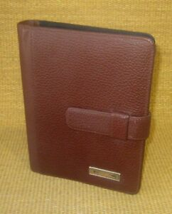 Classic desk 1 Rings Brown Leather Day timer Open Planner binder Franklin