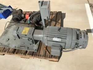 Reuland 10 Hp Motor Magnetic Brake With Reuland Right Angle Gear Box 3 Ph