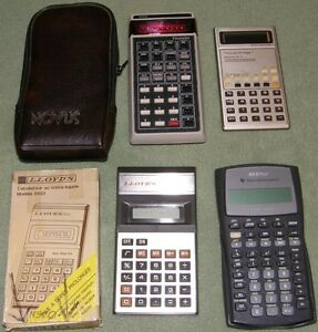 Lot 5 Financial Business Calculator Ti Vintage Novus Hp Lloyds Free Priorty Ship