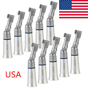 10 Seasky Dental Low Speed Contra Angle Handpiece Latch E type Nsk Style Usa or