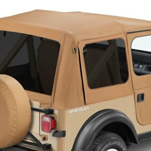 Jeep Wrangler 1988 1995 Bestop 51123 37 Replace A Top Spice Fabric Only Soft Top