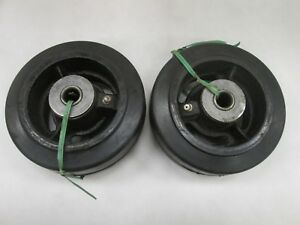 2 5 X 2 Rubber Caster Wheels New