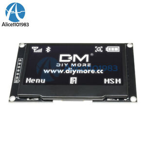 2 42 Inch White Oled Display Ssd1309 128x64 Spi Serial Port Module For Arduino
