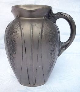 Art Nouveau French Christofle Gallia Huge Pitcher Silvered Pewter Number 4529