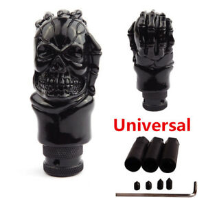 Car Skull Head Manual Transmission Gear Shift Knob Skull Shifter Lever W 3 Hoses